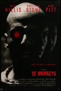 3w003 12 MONKEYS 1sh 1995 Bruce Willis, Brad Pitt, Stowe, Terry Gilliam directed sci-fi!