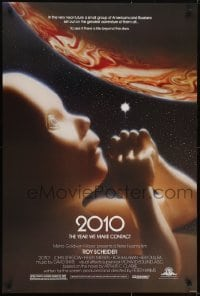 3w007 2010 1sh 1984 sequel to 2001: A Space Odyssey, full bleed image of the starchild & Jupiter!