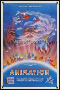 3w008 21ST INTERNATIONAL TOURNEE OF ANIMATION 1sh 1988 cool fantasy artwork!