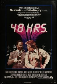 3w002 48 HRS. 1sh 1982 Nick Nolte is a cop who hates Eddie Murphy who is a convict!