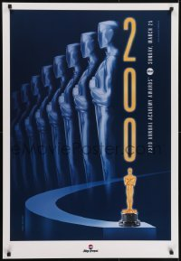3w010 73RD ANNUAL ACADEMY AWARDS 1sh 2001 cool design & image of Oscar, The Joy of Pepsi!