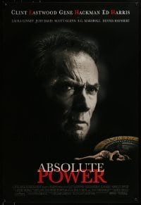 3w012 ABSOLUTE POWER 1sh 1997 great image of star & director Clint Eastwood!