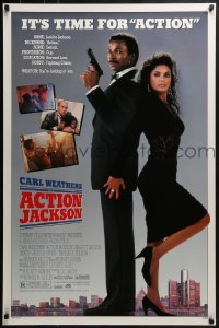 3w017 ACTION JACKSON 1sh 1988 Carl Weathers, Craig T. Nelson, Sharon Stone, sexy Vanity!