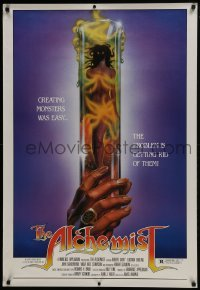 3w025 ALCHEMIST 1sh 1985 directed by Charles Band, sexy monster in a test tube art!