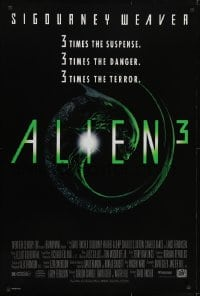 3w028 ALIEN 3 1sh 1992 this time it's hiding in the most terrifying place of all!