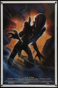 3w027 ALIEN style A Kilian 1sh R1994 Ridley Scott outer space classic, cool different Alvin art!