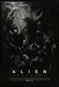 3w034 ALIEN COVENANT style D advance DS 1sh 2017 Ridley Scott, Fassbender, incredible sci-fi image!