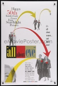 3w036 ALL ABOUT EVE DS 1sh R2000 Bette Davis & Anne Baxter, Monroe, image from original one sheet!