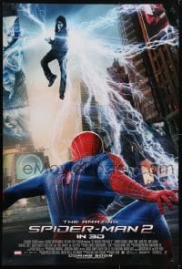 3w040 AMAZING SPIDER-MAN 2 int'l advance DS 1sh 2014 angry Electro above Andrew Garfield!