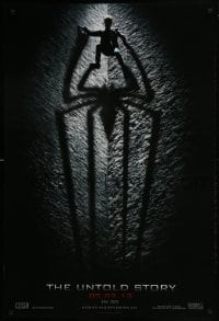 3w039 AMAZING SPIDER-MAN teaser DS 1sh 2012 shadowy image of Andrew Garfield climbing wall!
