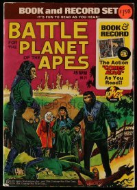 3x001 BATTLE FOR THE PLANET OF THE APES comic book 1974 includes real 45 RPM record!