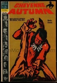 3x005 CHEYENNE AUTUMN comic book 1965 cool comic art version of John Ford's epic western!