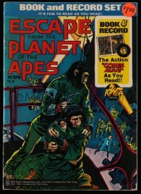 3x002 ESCAPE FROM THE PLANET OF THE APES comic book 1974 includes real 45 RPM record!