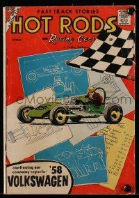 3x010 HOT RODS & RACING CARS #37 comic book October 1958 Fast Track Stories!