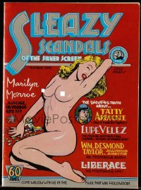 3x016 SLEAZY SCANDALS OF THE SILVER SCREEN 1st printing comic book 1974 sexy nude Marilyn Monroe!