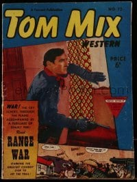 3x013 TOM MIX English comic book 1951 Range War starring the greatest cowboy ever to hit the trail!