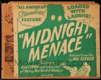3x019 MIDNIGHT MENACE 11x11 poster on 11x14 background 1946 Lollypop & Merry, Mad Mirth-o-Maniacs!