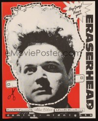 3x038 ERASERHEAD promo cut-out mask R1980s directed by David Lynch, wacky Jack Nance face mask!