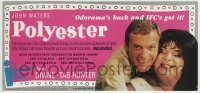 3x036 POLYESTER 5x11 Odorama scratch & sniff card R1998 John Waters, you can smell the movie!