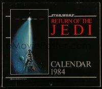 3x041 RETURN OF THE JEDI 11x12 calendar 1984 hands holding lightsaber by Tim Reamer on cover!