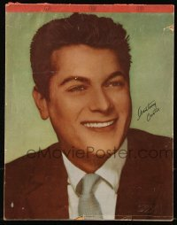 3x045 TONY CURTIS 8x10 composition pad 1949 when he was Anthony Curtis, blank pages to write on!