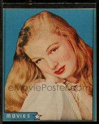3x046 VERONICA LAKE 8x10 composition pad 1940s sexy portrait + 15 blank pages to write on!