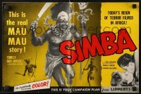 3x889 SIMBA pressbook 1955 Dirk Bogarde & Virginia McKenna's love defied primitive jungle laws!