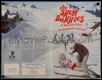 3x895 SNOW BUNNIES pressbook 1972 written by Ed Wood, great art of super sexy nearly nude skiers!