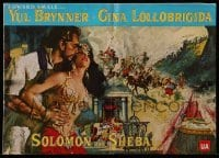 3x898 SOLOMON & SHEBA pressbook 1959 art of Yul Brynner with hair & super sexy Gina Lollobrigida!