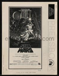 3x908 STAR WARS pressbook 1977 George Lucas classic sci-fi epic, lots of advertising images!