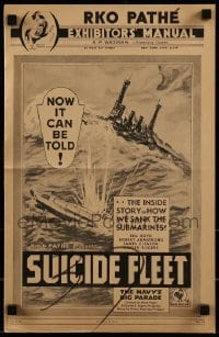 3x911 SUICIDE FLEET pressbook 1931 William Boyd, Robert Armstrong, Ginger Rogers, WWI Navy!