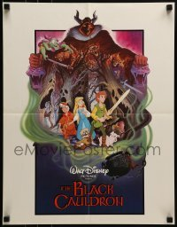 3x062 BLACK CAULDRON promo brochure 1985 Disney, includes a trade ad that unfolds to a 17x22 poster!