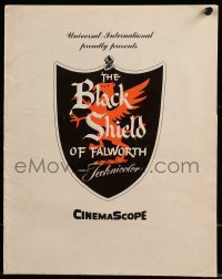3x063 BLACK SHIELD OF FALWORTH promo brochure 1954 Tony Curtis & Janet Leigh, different images!