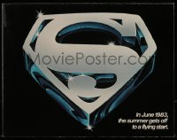 3x072 SUPERMAN III promo brochure 1983 Christopher Reeve, Richard Pryor, unfolds to a 25x39 poster!