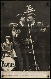 3x077 VOX promo brochure 1960s includes a 15x23 poster of The Beatles performing + guitar ads!