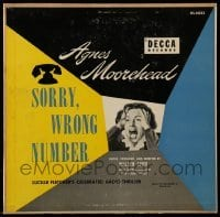 3x003 SORRY WRONG NUMBER 33 1/3 record 1952 Agnes Moorehead in Lucille Fletcher's radio thriller!