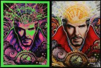 3x035 DOCTOR STRANGE set of 2 IMAX mini posters 2016 Benedict Cumberbatch, 1 cool blacklight image!