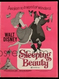 3x893 SLEEPING BEAUTY pressbook R1970 Walt Disney cartoon fairy tale fantasy classic!