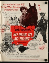 3x897 SO DEAR TO MY HEART pressbook 1949 Walt Disney, Burl Ives, Beulah Bondi, Harrey Carey