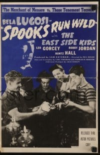 3x905 SPOOKS RUN WILD pressbook R1949 Bela Lugosi, Leo Gorcey, Huntz Hall & The East Side Kids!