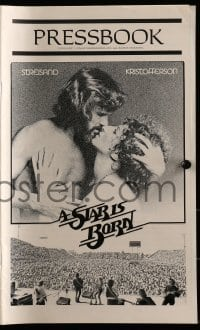 3x907 STAR IS BORN pressbook 1977 Kris Kristofferson, Barbra Streisand, rock & roll concert image!