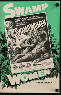 3x913 SWAMP WOMEN pressbook 1955 love-starved Louisiana bayou women lust for men, weird adventure!