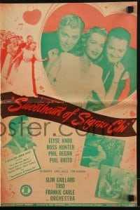3x916 SWEETHEART OF SIGMA CHI pressbook 1946 sexy Elyse Knox, producer Ross Hunter as an actor!
