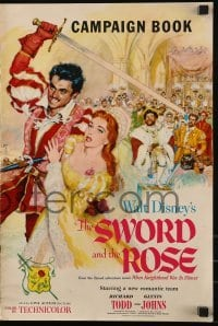 3x920 SWORD & THE ROSE pressbook 1953 Glynis Johns, Disney remake of When Knighthood Was In Flower!