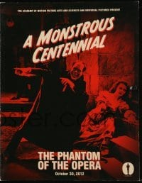 3x069 PHANTOM OF THE OPERA promo brochure R2012 great classic images of Lon Chaney!
