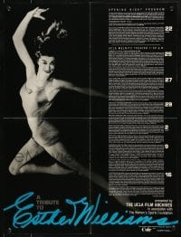 3x075 TRIBUTE TO ESTHER WILLIAMS promo brochure 1984 opens to make a 17x22 poster!