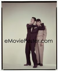 4d008 DEAN MARTIN/JERRY LEWIS 8x10 transparency 1950s Paramount portrait of the great comedy team!