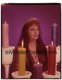 4d011 EL DORADO 8x10 transparency 1967 Paramount portrait of Charlene Holt with candles!