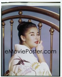 4d014 GIRL NAMED TAMIKO 8x10 transparency 1962 great portrait of France Nuyen in the title role!