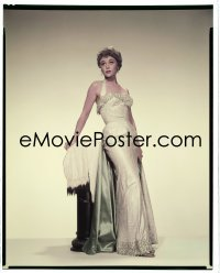 4d016 GLYNIS JOHNS 8x10 transparency 1955 full-length Paramount portrait modeling a sexy gown!